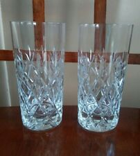 "LOT 2  Schott Zwiesel Cut Crystal ""Wessex"" pattern High Ball Tumblers Glass"