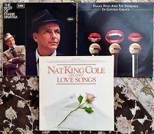 3 Perfect Quality Vintage LPs Best of: Frank Sinatra, Diana Ross & Nat King Cole