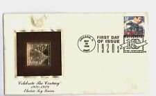 Celebrate The Century 1920s 32c Electric Toy Trains 22kt Gold Stamp FDC May 1998