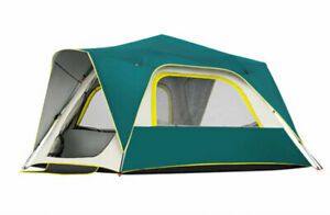 3-4 Person Double Layers Sun-Proof Anti Hard Rain Instant Setup Camping Tent