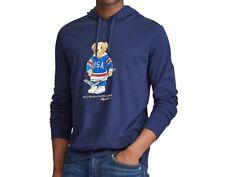 NWT POLO RALPH LAUREN Hockey BEAR Sz Large Tall -Navy Lightweight T-shirt Hoodie