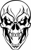Evil Tribal Bad Skull Face Mask Skeleton Head Teeth Graphic Vinyl Decal Sticker