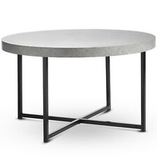 VonHaus Concrete-Look Coffee Table Contemporary Style Lightweight Metal-Effect