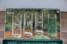 (Art.:I-1612) Schönes Glas-Set 4-tlg. mit Jagdmotiv
