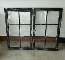VINTAGE SASH ANTIQUE WOOD WINDOW PICTURE FRAME PINTEREST  DISTRESSED BLACK 32x19