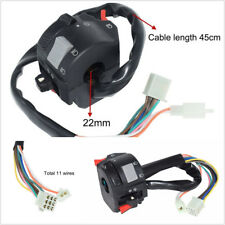 22mm Motorcycles ATV Handlebar Headlight Fog Lamp Switch With 11 Wiring Harness