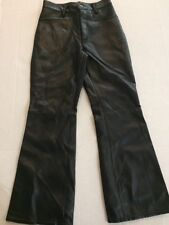 Girls Size 10 Black Leather Pants Biker Costume