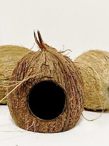 Organic Natural Coconut Shell Breeding Cave Aquarium Reptile Fish Tank Hide