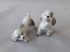 2 petits chiens chiots Goebel Allemagne faience Collection A voir !