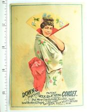 Lovely Geisha Down's Improved Corset, Sturgis, Mich Victorian Trade Card F61
