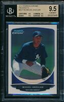 BGS 9.5 MIGUEL ANDUJAR 1st 2013 Bowman Chrome Yankees Rookie RC QUAD GEM MINT