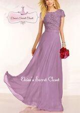 Full Length Chiffon Short Sleeve Formal Dresses for Women