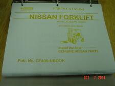 NISSAN Model JO2 (UP) Series  OEM Forklift Parts Catalog 2002 NEW LQQK!