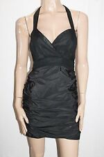 KOOKAI Designer Black Industrial Contrast Dress Size 38 BNWT #TA72