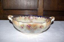 "Antique Early Carlton Ware Art Nouveau Blush 10"" Twin Handled Bowl c1905"
