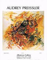 1970s Original Vintage Audrey Preissler Art Print Ad