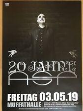 ASP - 20 JAHRE 2018 MÜNCHEN -- orig.Konzert Plakat - Concert Poster  A1 xx
