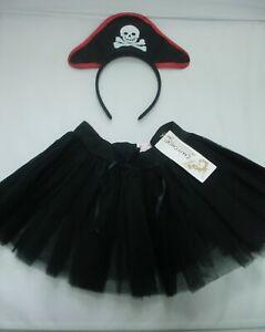 Childrens Pirate Fancy Dress Pirate Headband Tutu Costume Girls Boys Kids