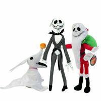 Nightmare Before Christmas Jack Skellington & Santa Jack & Zero Plush Doll Toys