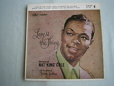"NAT KING COLE Love Is The Thing EP UK 7"" single PS 1957 ex-/ex-"