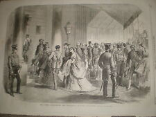 Queen's Drawing room Ambassadors' Entrance Buckingham Palace 1868 print ref Z1
