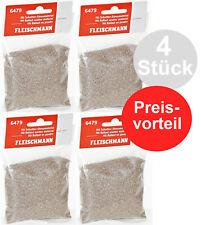 Fleischmann H0 6479-S 4 x Schotter-Streumaterial 600 g (100g - 3,09 €) NEU + OVP