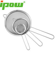 IPOW 3pack Cooking Tools Mesh Oil Strainer Flour Sifter Sieve Colander Stainless