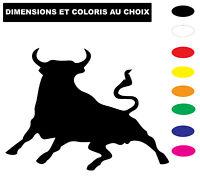 Sticker Taureau de camargue autocollant adhésif voiture  Coloris au choix