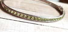 Chuck Clemency NYCII Sterling silver Green peridot Bangle Bracelet $265