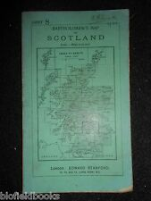 Vintage Bartholomew's Map to Scotland, c1933 Glasgow, Edinburgh, Stirling (8)