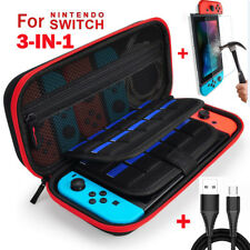 For Nintendo Switch Hard Protective Carry Case Travel Bag+Glass Film+Charge Cord