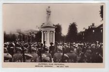 More details for unveiling ceremony, dumfries war memorial: dumfriesshire postcard (c54229)