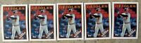 Cal Ripken 1988 Topps #650 Baltimore Orioles 5ct Card Lot