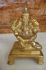 OLD ANTIQUE Hindu Traditional India Ritual God Ganesha Bronze Statue