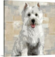 West Highland White Terrier Canvas Wall Art Print, Dog Home Decor