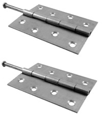 "1 Pair 100mm Butt Hinge Loose Pin Hinge Door Hinge self colour (4"")"