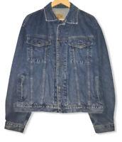 Vintage Gap Men's Size Large Blue Denim Metal Button Trucker Jean Jacket euc