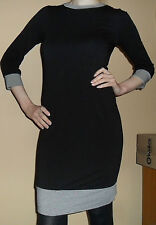 Sexy Clingy Black Dress With Sleeves XS