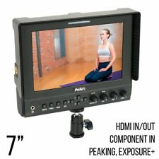 7 Inch Iris Pro HD 4K HDMI On Camera/Crane LCD Video Monitor, Peaking (P7HD3)