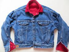 Levi's® Jeans 2 in1 Jacke Wendejacke Gr. M, Cordjacke ROT Jeansjacke BLAU, USA !