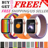 Woven Nylon Band For Apple Watch 38/42/40/44mm Sport Loop iWatch Series 4/3/2/1