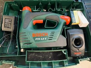 Bosch Battery Staple Gun Ptk 3,6 V + Charger, Battery and Box TESTED