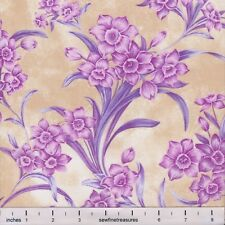 Flower of the Month December PINK NARCISSUS Northcott Fabric By the FQ - 1/4 YD