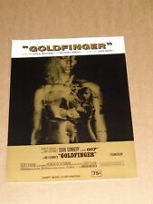"James Bond ""Goldfinger"" 1964 US film sheet music (Sean Connery)"