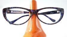 Vintagebrille Plastik Gestell Butterflyform dunkel gemustert markant betont Gr M