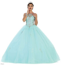 STUNNING QUINCEANERA RED CARPET DRESSES SWEET 16 PROM FORMAL MILITARY BALL GOWNS