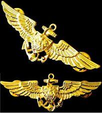 US Navy Aviation Wing Badge Naval Aviator Pilot Pin Military GOLD Insignia USN