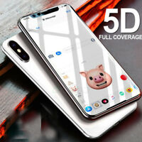 For Apple iPhone XS MAX Gorilla 5D Full Coverage Tempered Glass Protector BLACK