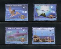C353   Ecuador 2008 fish birds Galapagos sharks 4v. MNH