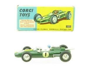 Corgi Toys 155 Lotus Climax Formule 1 Course Voiture Vert Original Emballé